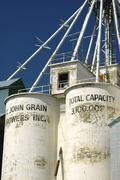 washington whitman john grain silo grasses - stock photo