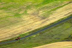 washington whitman palouse country steptoe butte - stock photo