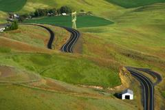 idaho nez perce lewiston old grade highway - stock photo