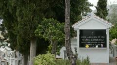 Maria Zambrano's grave in Velez Malaga 2. Stock Footage