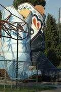 Seattle hat boots city landmark gas station park Stock Photos