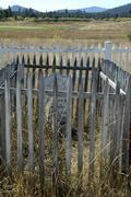 Stock Photo of golf oregon deschutes pioneer cemetery course