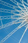 ferris wheel abstraction - stock photo