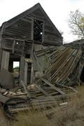 House north dakota oliver sanger homestead land Stock Photos