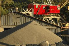 Stock Photo of business concrete plant gravel aggregate shed