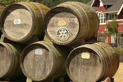 washington island whidbey winery 1904 casks - stock photo
