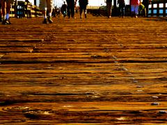 Pier wood grains Stock Photos