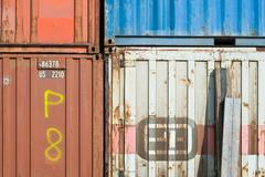 Old transport containers Stock Photos
