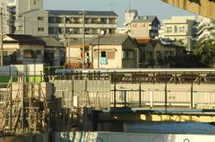 japan honshu osaka miyakojima ward shirokita - stock photo