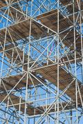 Stock Photo of scaffolding on a construction site
