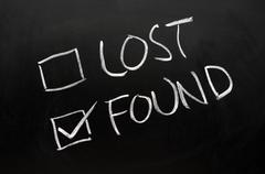 lost and found check boxes - stock photo