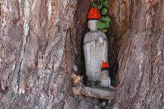 Stock Photo of tree japan honshu gifu prefecture takayama jizo