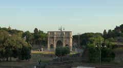 Rome arch constantine Stock Footage