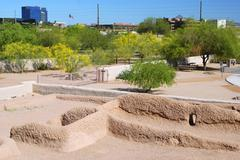 Arizona phoenix pueblo grande museum park site Stock Photos