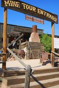 Arizona apache junction goldfield ghost town Stock Photos