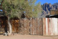 arizona apache junction goldfield ghost town - stock photo