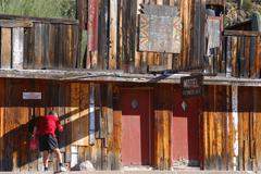 Arizona tonto national forest apache trail flats Stock Photos