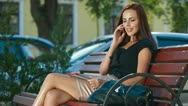 Contemporary  Woman and Wireless Technologies Stock Footage