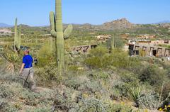 Arizona scottsdale pinnacle peak recreation area Stock Photos