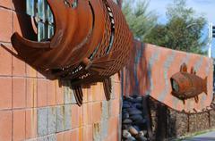Art Arizona scottsdale sivujoki seinä Goldwater Kuvituskuvat