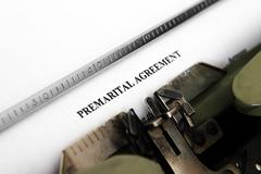 Premarital agreement Stock Photos