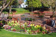 Kukkia Arizona scottsdale mall suihkulähde tiili Kuvituskuvat