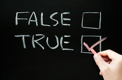 true and false checkboxes - stock photo