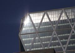 Building with sun Stock Photos