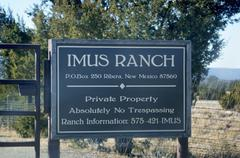 Don imus ranch sign new mexico hispanic nm Stock Photos