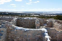 Gran quivira ruins new mexico hispanic nm actual Stock Photos