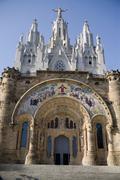 Tibidabo in Barcelona. Spain. - stock photo