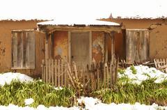 adobe house mora new mexico hispanic nm - stock photo