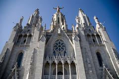 Tibidabo in Barcelona. Spain. Stock Photos