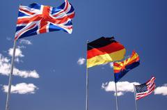 Nations flags canada mexico hispanic usa nation Stock Photos