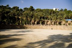 Parc Guell in Barcelona. Spain. - stock photo