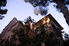 Parc Guell in Barcelona. Spain. Gaudi Museum. - stock photo