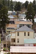 houses lead south dakota sd address casa den - stock photo