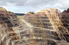 Open pit gold mine lead south dakota sd industry Stock Photos