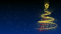 Christmas Tree Background - Merry Christmas 25 (HD) Stock Footage
