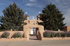 saint st. st francis de assisi taos new mexico - stock photo
