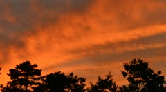Timelapse of Evening Sky rolling clouds time lapse Stock Footage