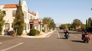 Winnedumah hotel california ca downtown bikers Stock Photos