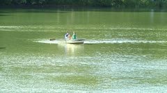 Boats on Central Park Lake 2 Stock Footage