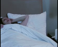 Sick woman in bed V4 - PAL Stock Footage