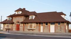 Oregon short line railroad depot or ontario Stock Photos