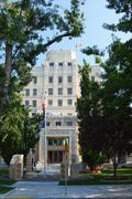 Vanha oikeustalo Boise Idaho id rakennuksen oikeudellisista Kuvituskuvat