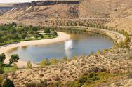 Stock Photo of idaho id lucky lake highway 21 ample big broad