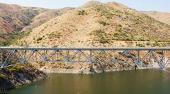 mores creek bridge highway 21 idaho id advantage - stock photo