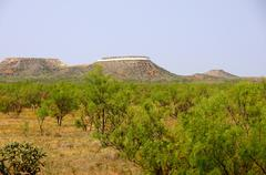 floating mesa stanley marsch cliffside amarillo - stock photo
