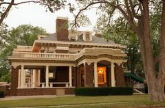 harrington house 1600 polk amarillo texas tx 66 - stock photo